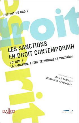 Couverture de l'ouvrage Les sanctions en droit contemporain